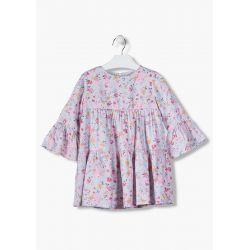 Prévente - Romantic Chic - Ens. robe imprimée et collant rose pâle avec strass