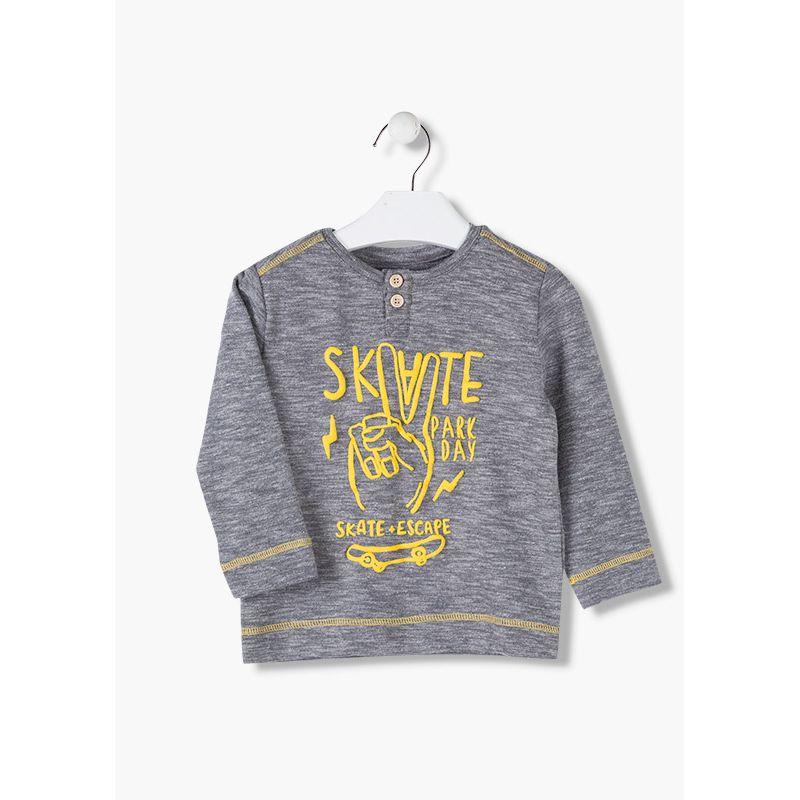 Prévente - Skate Park - T-shirt gris chiné