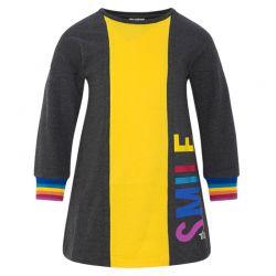 Prévente - Rainbows - Robe en molleton noire et jaune