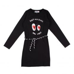 "Prévente - Robe noire ""got my eyes on you"""