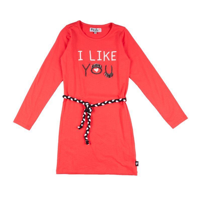 """Prévente - Robe rouge """"I like you"""""""