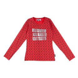Prévente - T-shirt rouge imprimé
