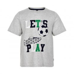 Prévente - Metoo - T-shirt gris chiné Let's Play