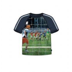 Prévente - Metoo - T-shirt dress blue imprimé soccer
