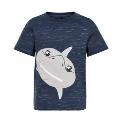 Prévente - Metoo - T-shirt dress blue imprimé requin