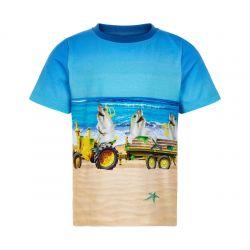 Prévente - Metoo - T-shirt saphir imprimé requins