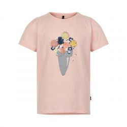 Prévente - Metoo - T-shirt rose chintz appliqué fleurs