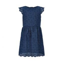Prévente - Metoo - Robe en broderie anglaise dress blue