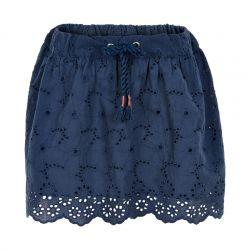Prévente - Metoo - Jupe en broderie anglaise dress blue