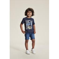 Metoo - T-shirt dress blue Hey