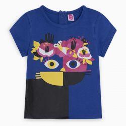 Prévente - Pink Cat - T-shirt bleu