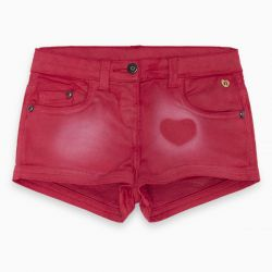Prévente - Basic - Short en denim rouge