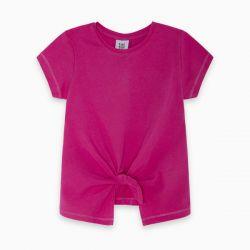 Prévente - Basic - T-shirt fuschia avec boucle