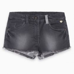Prévente - Basic - Short en denim gris