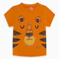 Prévente - Wild Side -T-shirt orance avec face de lion