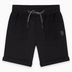 Prévente - Basic - Bermuda en molleton noir