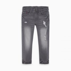 Prévente - Basic - Pantalon en denim gris