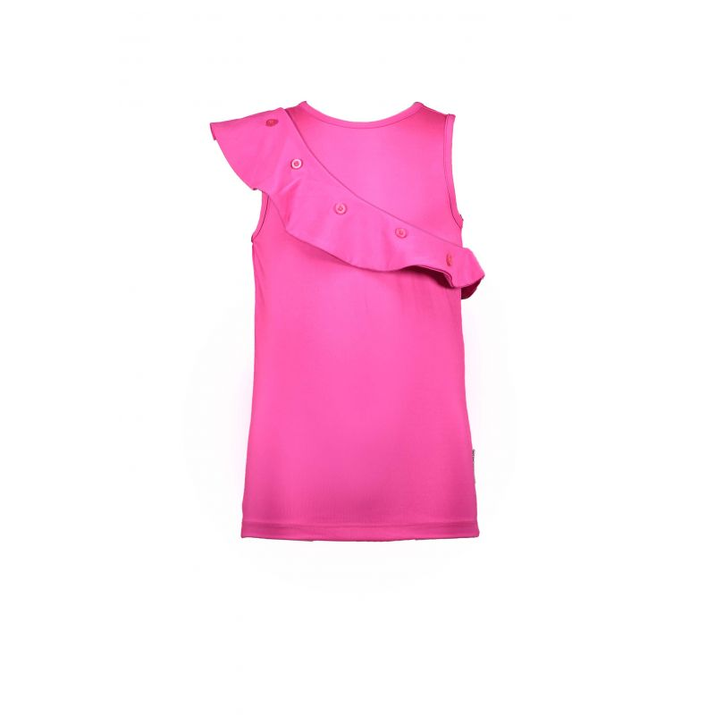 Prévente - Military - Haut pink glo à volant oblique