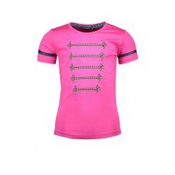 Prévente - Military - T-shirt pink glo avec cordons argent