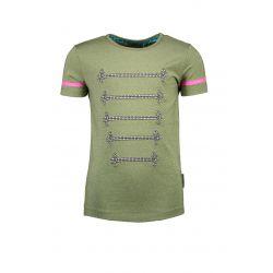 Prévente - Military - T-shirt mermaid avec cordons argent