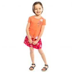 Prévente - Sorbet et Coquelicot - T-shirt à effet superposé orange et rose