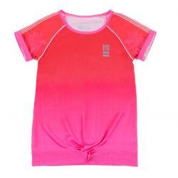 Prévente - Rétro-Active - T-shirt rouge-rose dégradé