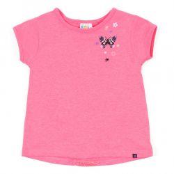 Prévente - Anémones et Papillons - T-shirt corail