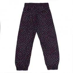 Prévente - Anémones et Papillons - Pantalon fluide noir imprimé