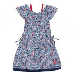 Prévente - Douceur Tropicale - Robe imprimée à épaules dégagées
