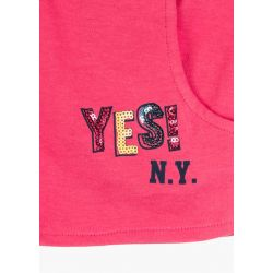 Prévente - Happy Days - Ens. T-shirt marine et short fraise
