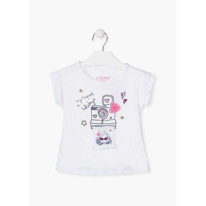 Prévente - Tropical Paint - T-shirt blanc