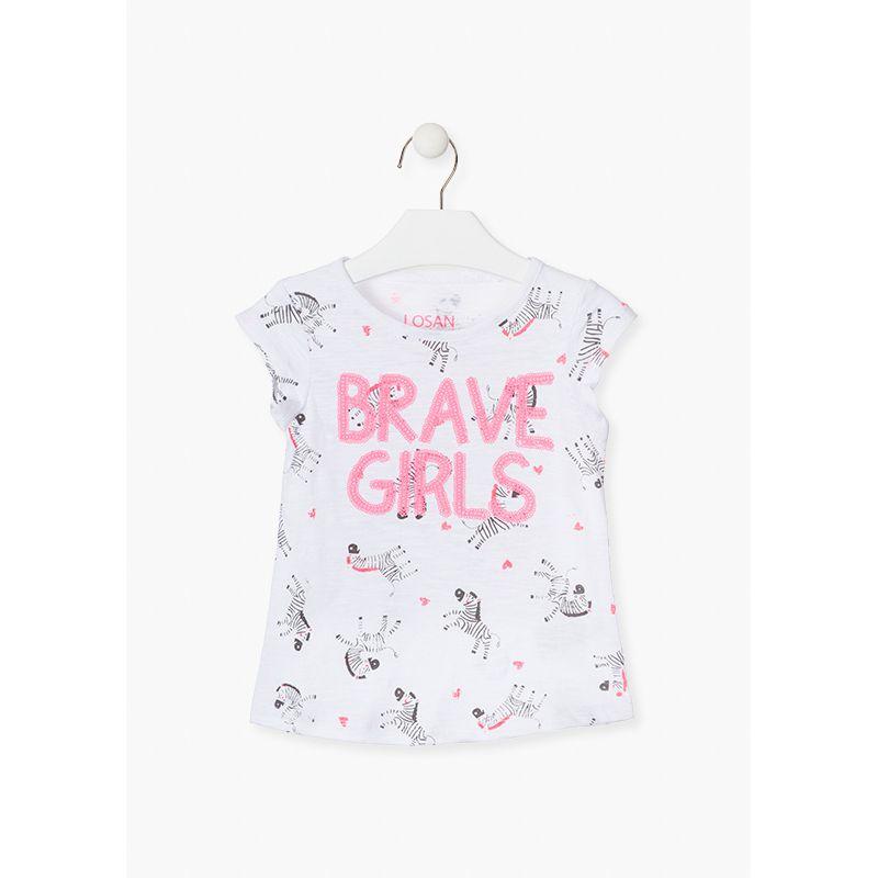 Prévente - Free Color - T-shirt blanc imprimé zèbre