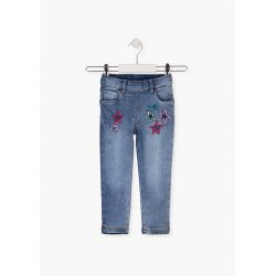 Prévente - Happy Day - Jeans stretch avec broderies
