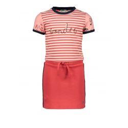Prévente - Nice - Robe sportive rayée rouge