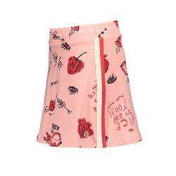 Prévente - Nice - Jupe rose pâle imprimée