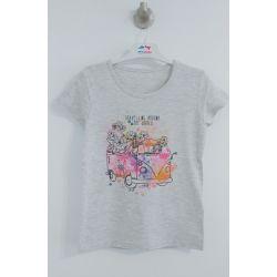 T-shirt gris pâle chiné