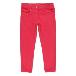 Prévente - Basic - Pantalon en toile magenta