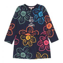 Prévente - Folk Forever - Robe marine imprimée en jersey
