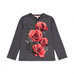 Prévente - N.Y. - T-shirt anthracite I Love Red Roses