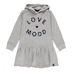 Prévente - Silver Sparkle - Robe en molleton gris chiné avec capuchon