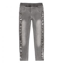 Prévente - Silver Sparkle - Jeans stretch gris