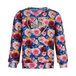 Sweatshirt imprimé fleurs