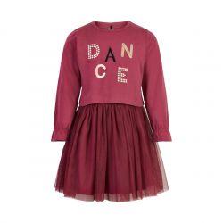Robe dry rose avec jupe en tulle