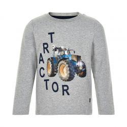 T-shirt gris chiné tracteur