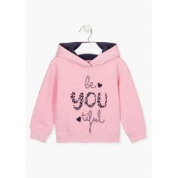 Prévente - Countryside - Sweatshirt à capuchon rose chiné