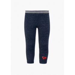 Prévente - Magic Navy - Legging en molleton marine clair scintillant