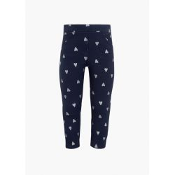 Prévente - Magic Navy - Pantalon en molleton marine clair imprimé coeur