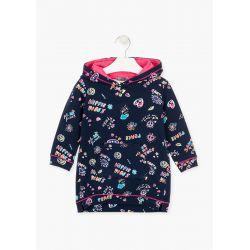 Prévente - Save The Future - Robe à capuchon en coton français imprimé