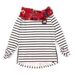Prévente - T-shirt rayé et foulard