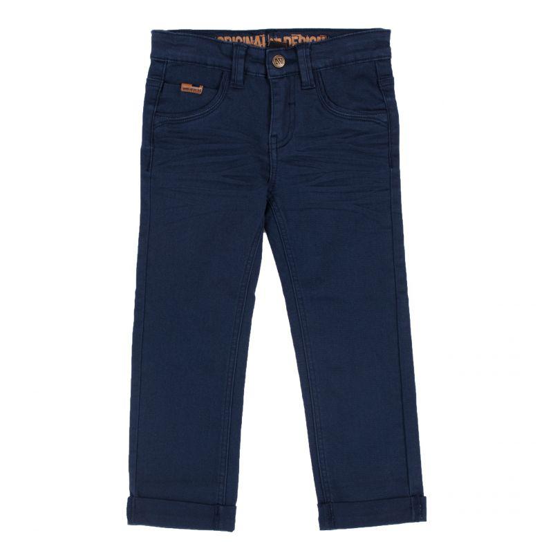Pantalon en twill strech bleu nuit